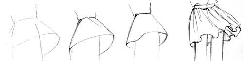 Рисование юбки